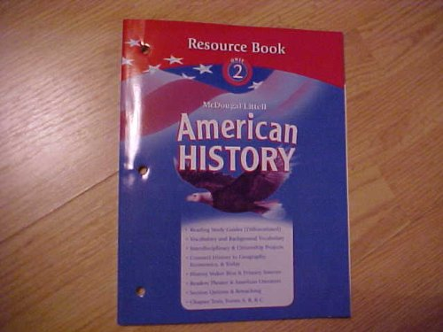 9780618821006: American History Resource Book Unit 2 [Paperback]