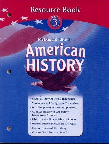 9780618821037: American History Resource Book Unit 3
