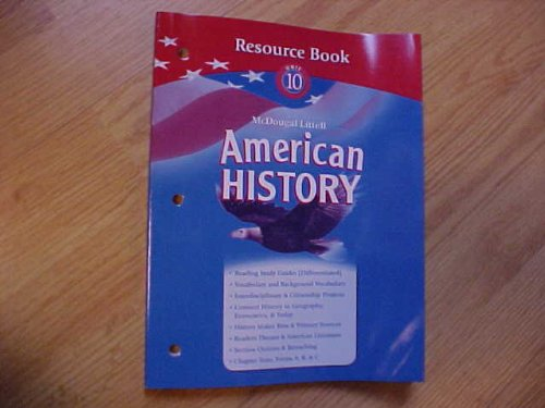 9780618821211: American History Resource Book Unit 10