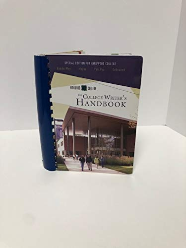 9780618821464: The College Writer's Handbook (Special Edition for Kingwood College)