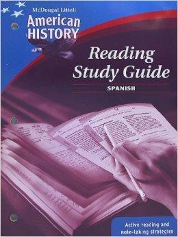 9780618821501: American History, Grades 6-8 Reading Study Guide: Mcdougal Littell American History