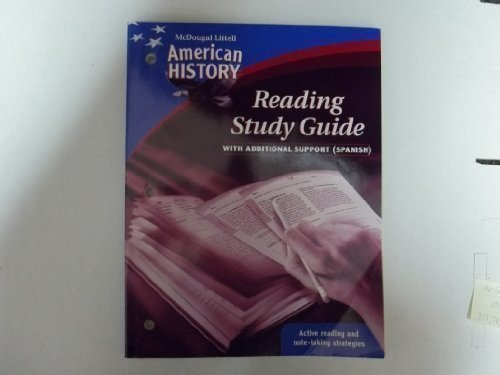 9780618821563: McDougal Littell Middle School American History: Spanish Reading Study Guide with Additional Support (Spanish Edition)