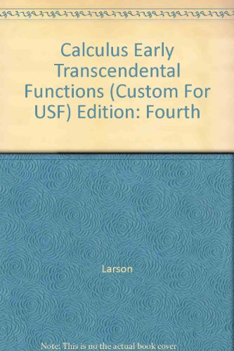 9780618822683: Calculus Early Transcendental Functions