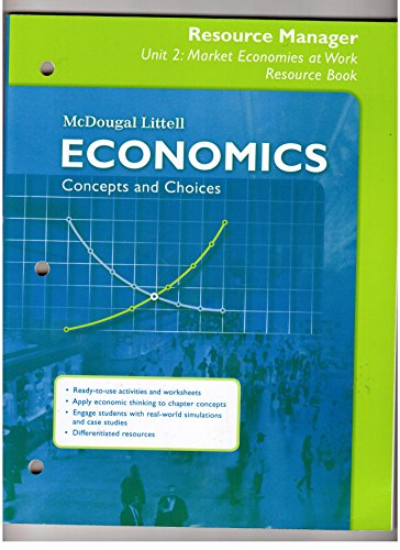 9780618822775: Economics Concepts and Choices Resource Manager Unit 2: Market Economies at Work Resource Book (Spanish)