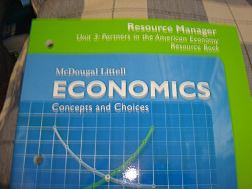 9780618822799: Economics Concepts and Choices: Unit 3 Partners in the American Economy