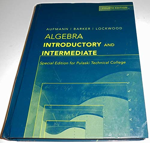 9780618823178: Algebra Introductory and Intermediate: Special Edition for Pulaski Technical College