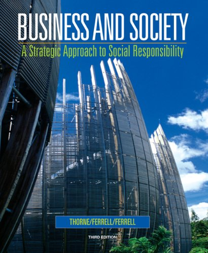 9780618823369: Business and Society: A Strategic Approach to Social Responsibility