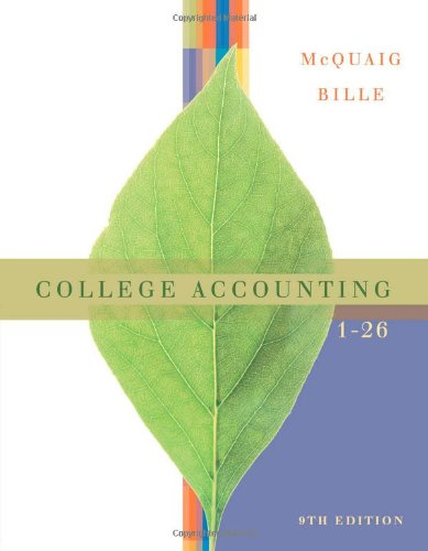 9780618824175: College Accounting, Chapters 1-26