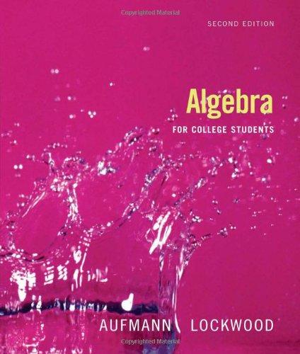 9780618824946: Algebra for College Students