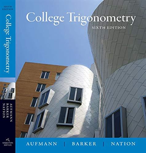 9780618825073: College Trigonometry