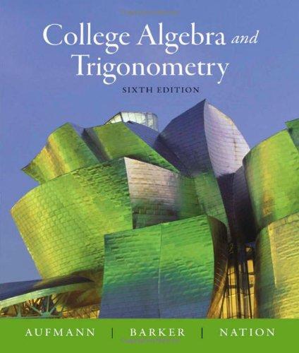 9780618825158: College Algebra and Trigonometry
