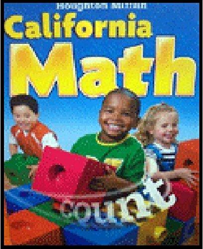 9780618827367: Houghton Mifflin Mathmatics California: Student Edition Level K 2009
