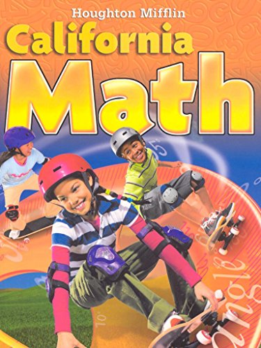 Houghton Mifflin Mathmatics California: Student Edition Level 5 2009: MIFFLIN, HOUGHTON