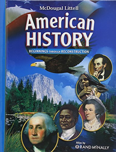 9780618828968: McDougal Littell Middle School American History: Student Edition Beginnings through Reconstruction 2008