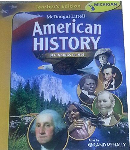 9780618829026: McDougal Littell Middle School American History: Teacher Edition Beginnings to 1914 2008