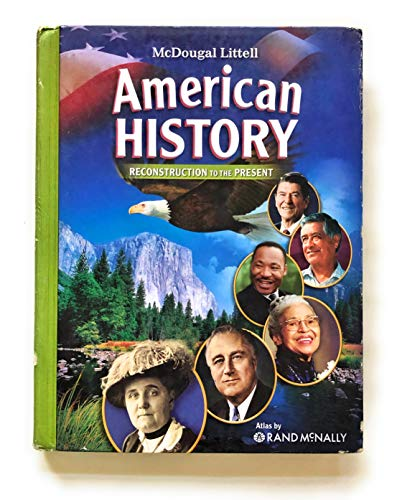 9780618829033: McDougal Littell Middle School American History: Student Edition Reconstruction to the Present 2008
