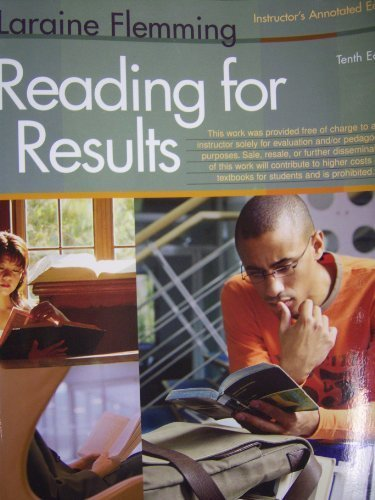 9780618830794: Readings for Results (Instructor's Annotated Edition)