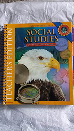 9780618831043: Houghton Mifflin Social Studies: Teacher Edition, Volume 2 Level 5 U.S. History 2008