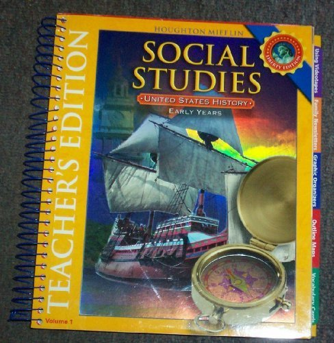 9780618831067: Houghton Mifflin Social Studies: United States History- Early Years, Level 1, , Vol. 1, Teacher's Edition, Liberty Edition