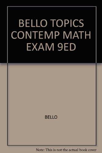 9780618833030: Topics in Contemporary Mathematics