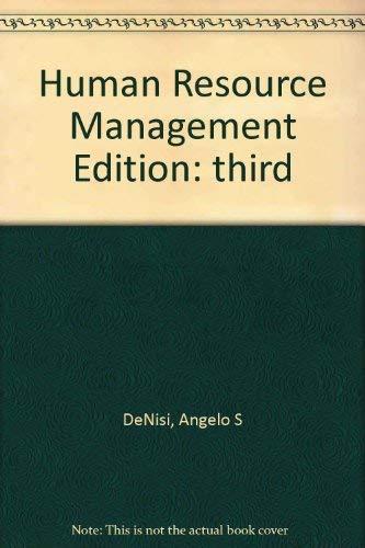 9780618833580: Human Resource Management