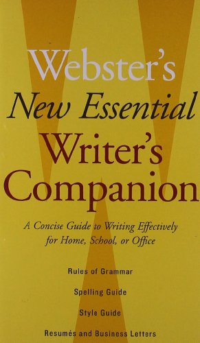 9780618837052: Webster's New Essential Writer's Companion: A Concise Guide to Writing Effectively for Home, School, or Office