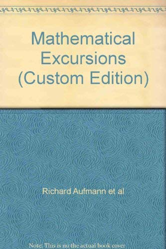 9780618838288: Mathematical Excursions (Custom Edition)