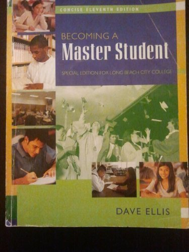 9780618839902: BECOMING A MASTER STUDENT (Special Edition For Long Beach City College)