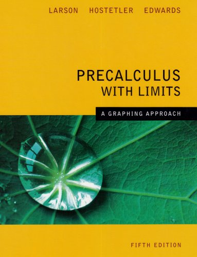 9780618851522 Precalculus With Limits A Graphing Approach