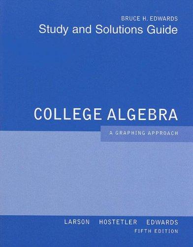 9780618851911: College Algebra Aga Student Solutions Manual 5th Edition
