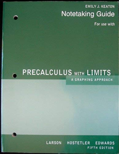 Notetaking Guide For Use With Precalculus, A: Emily J Keaton,