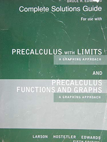 9780618854479: Precalculus With Limits And Precalculus Functions And Graphs: A Graphing Approach
