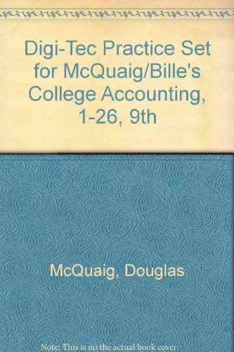 9780618855353: Digi-Tec Practice Set for McQuaig/Bille's College Accounting, 1-26, 9th