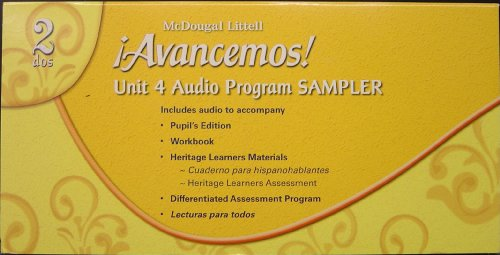9780618863532: Avancemos 2, Unit 4 Audio Program Sampler (5-CD Set: Text, Workbook, Assessment, Heritage Learners & Lecturas para todos CD's)