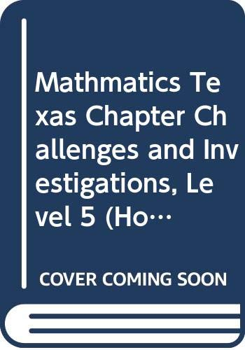 9780618864751: Houghton Mifflin Texas Math: Chapter Challenges and Investigations, Grade 5