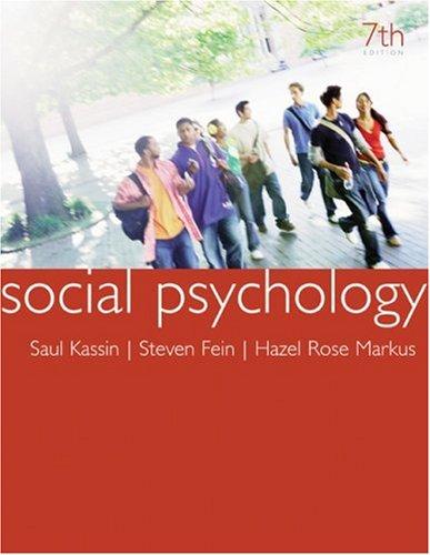 9780618868469: Social Psychology