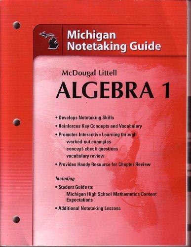 9780618870790 Holt McDougal Larson Algebra 1 Michigan