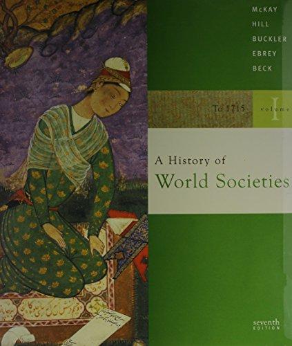 9780618879168: Mckay World Society Volume One Seventh Edition Plus Blackboard Webct