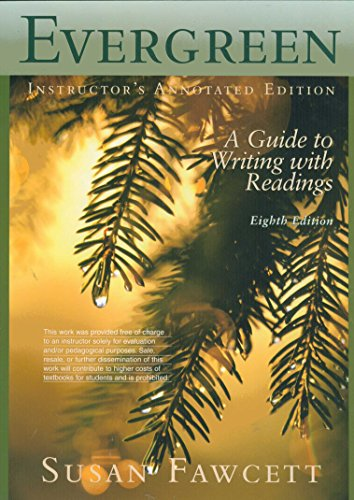 9780618879434: Evergreen: A Guide to Writing with Readings