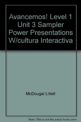 9780618884629: Avancemos! Level 1 Unit 3 Sampler Power Presentations W/cultura Interactiva