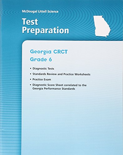 McDougal Littell Science Georgia: Test Prep Workbook Grade 6 Earth Science: MCDOUGAL LITTEL