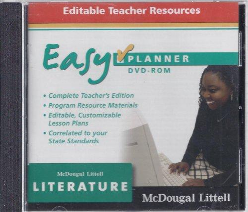 9780618887088: McDougal Littell Literature: EasyPlanner DVD-Rom Grade 8