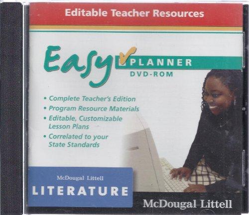 9780618887101: McDougal Littell Literature: EasyPlanner DVD-Rom Grade 10