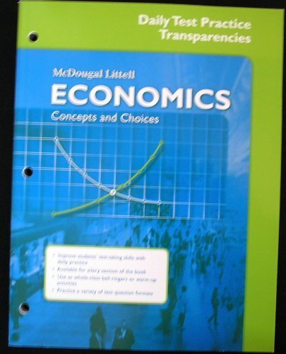 9780618887156: Economics: Concepts and Choices: Daily Test Practice Transparencies