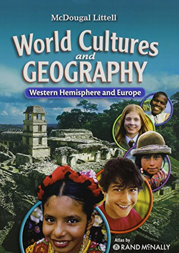 9780618887361: McDougal Littell Middle School World Cultures and Geography: Student Edition Western Hemisphere and Europe 2008