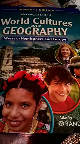9780618887378: McDougal Littell Middle School World Cultures and Geography: Teacher's Edition Western Hemisphere and Europe 2008