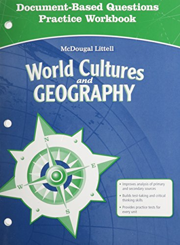 9780618887422: McDougal Littell Middle School World Cultures and Geography: Document Based Questions Practice Workbook