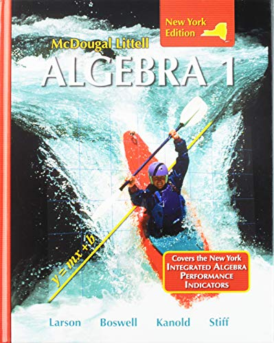 9780618887699: McDougal Littell Algebra 1 New York: Student Edition 2008