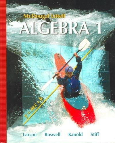 9780618887743: McDougal Littell Algebra 1 Arizona: Student Edition 2008