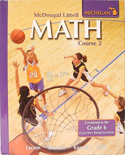 9780618888016: McDougal Littell Math Michigan: Student Edition Course 2 2008